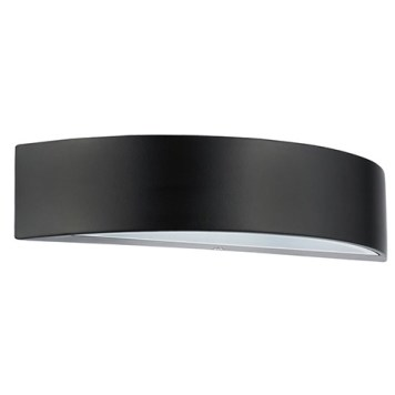 Applique LED aluminium demie-lune 5.5W (Eq. 50W) Dim. 300x90x65mm