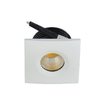 Mini spot LED encastrable carré EVA-2