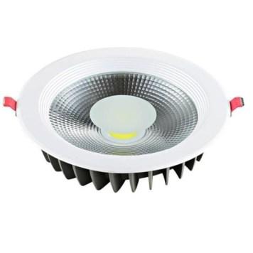 Spot COB LED downlight rond blanc