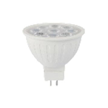 Ampoule LED de forme MR16 avec puissance 6W culot GU5.3 basse tension 12V AC/DC température de couleur 6400K