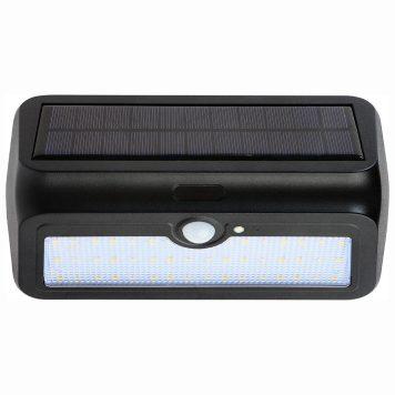 Balise solaire 2W noir avec détecteur de mouvement