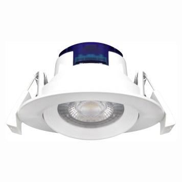 Spot LED encastrable rond blanc