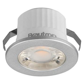 Mini spot LED rond argent