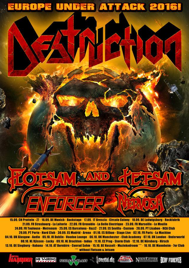 Destruction European tour 2016