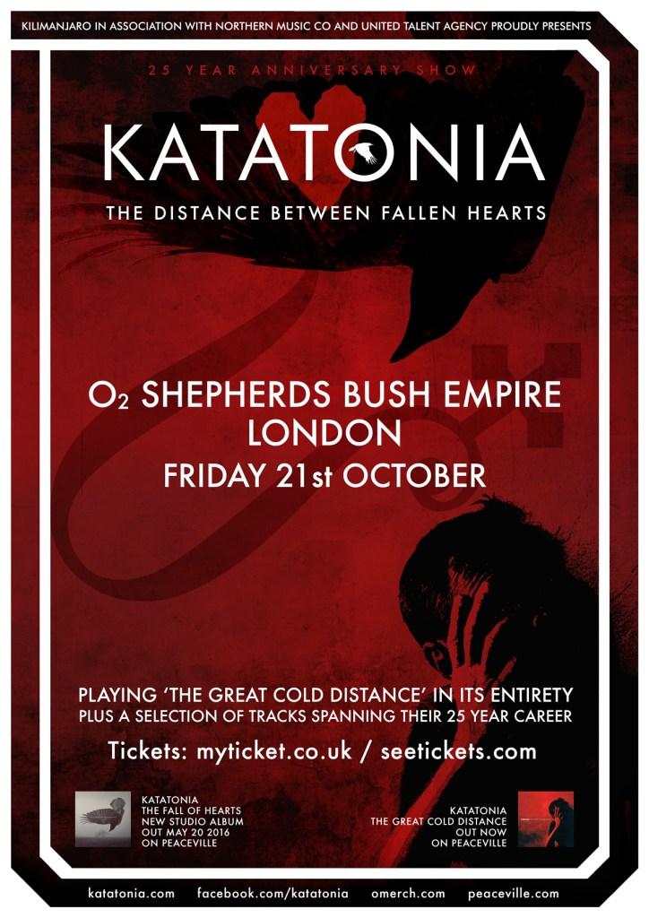 Katatonia London Anniversary Poster