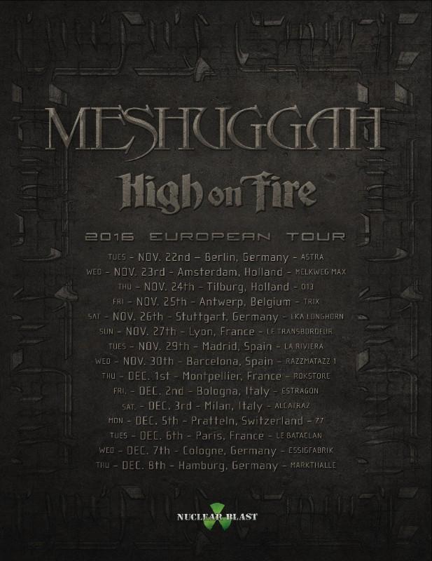 Meshuggah European Tour