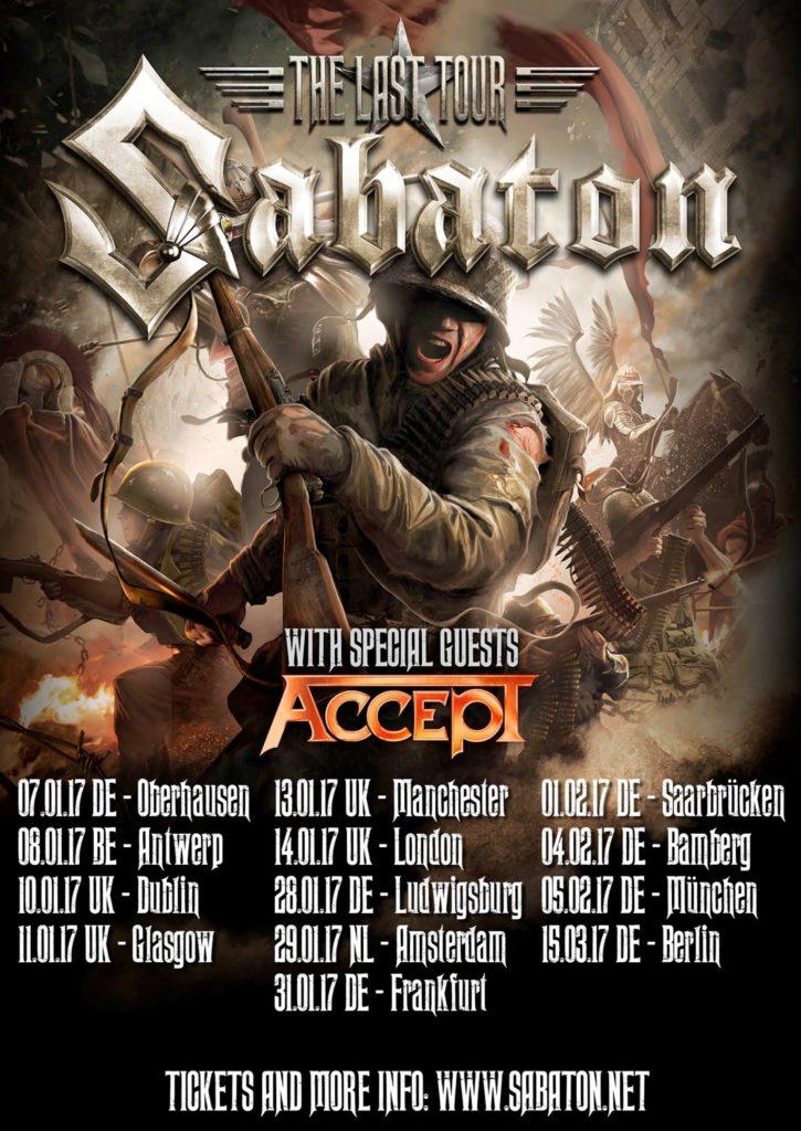 Sabaton European Tour 2017