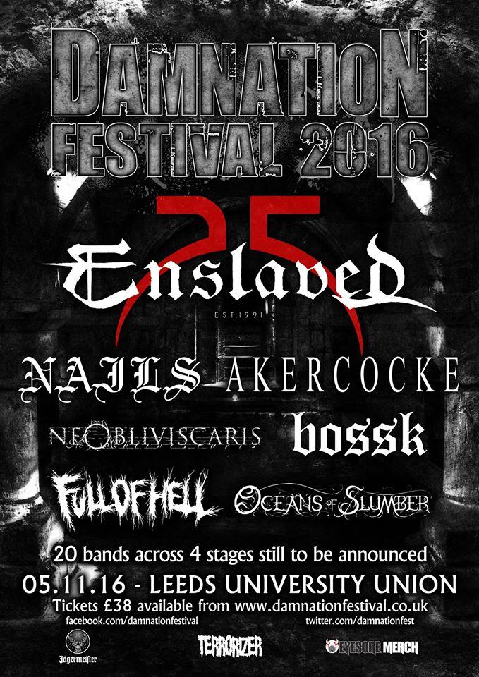 Damnation Festival Poster 24/5/16 (Bossk Announcement)