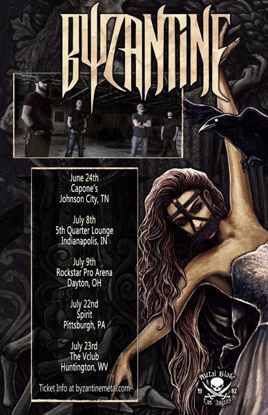 Byzantine US tour dates