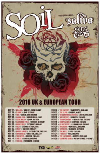 Soil UK/European Tour 2016