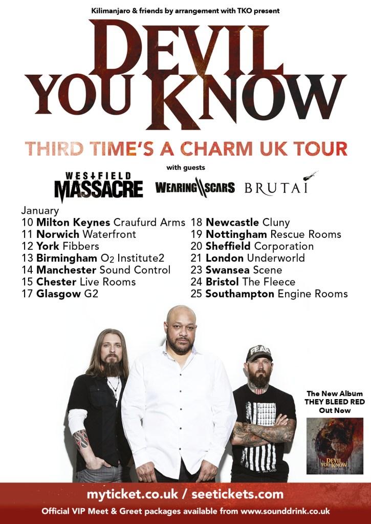 Devil You Know UK Tour 2017