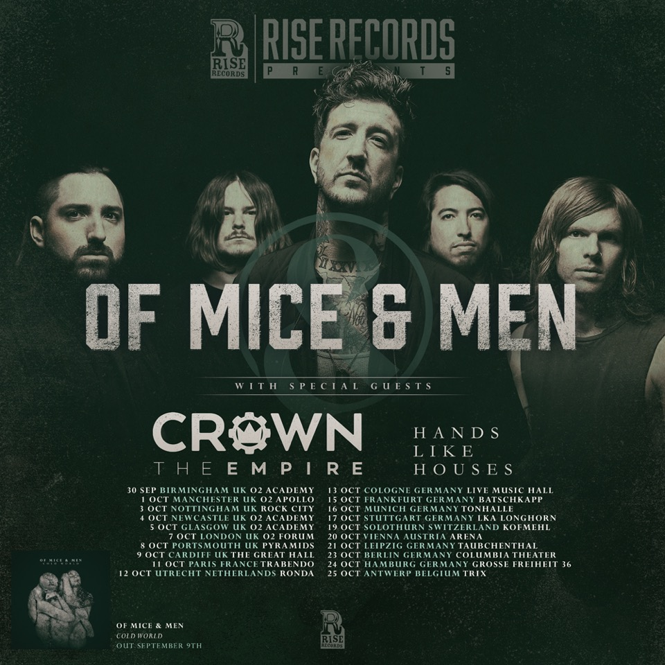 Of Mice & Men Euro Tour 2016