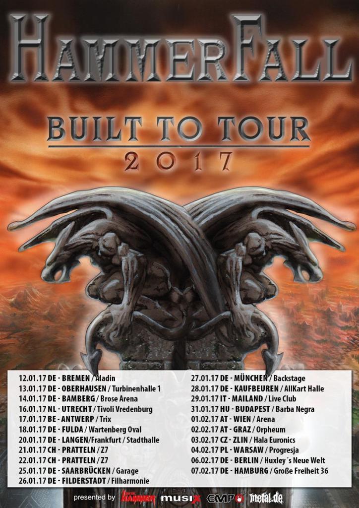 HammerFall European Tour 2017