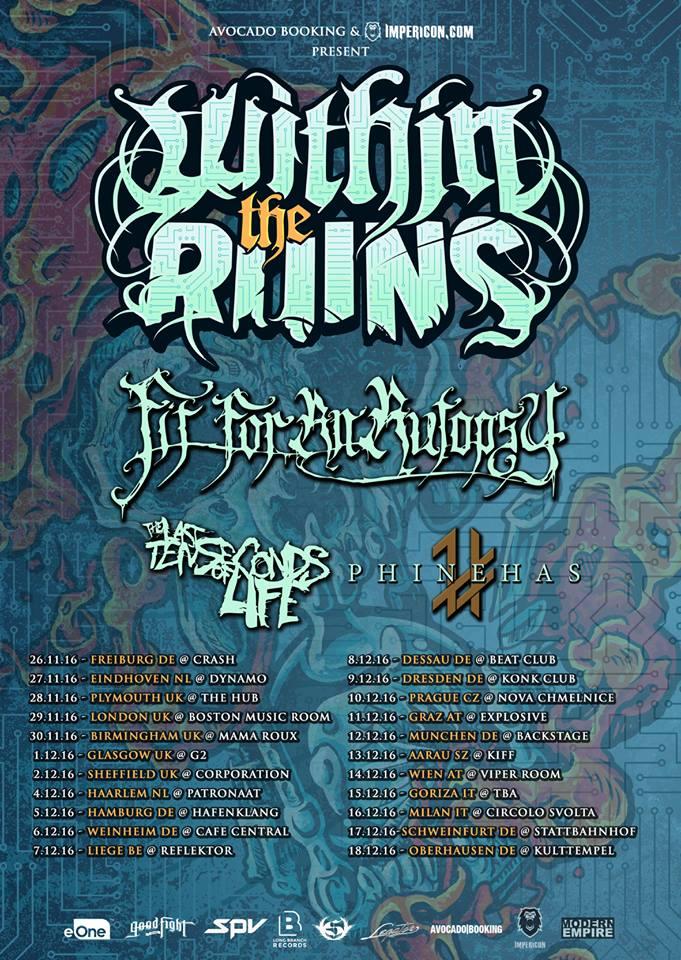 Within The Ruins European Tour