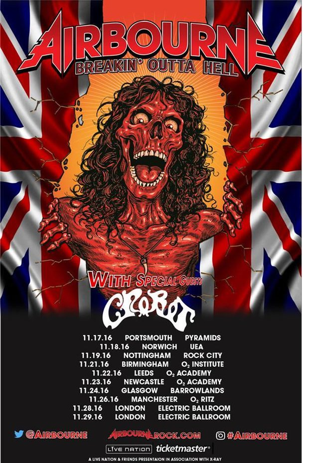 Airbourne Crobot UK tour