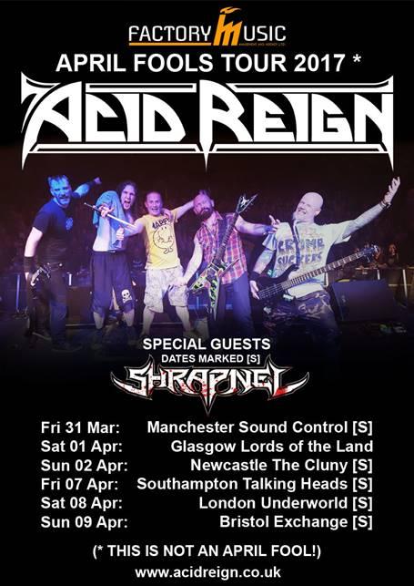 Acid Reign UK tour 2017