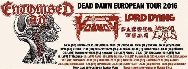 Entombed A.D. European Tour
