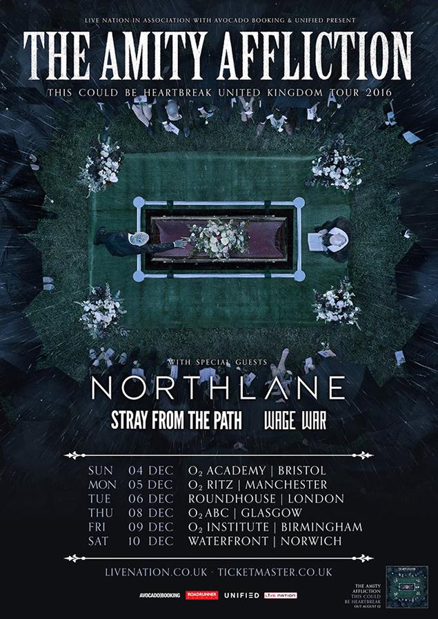 Amity Affliction UK tour 2016