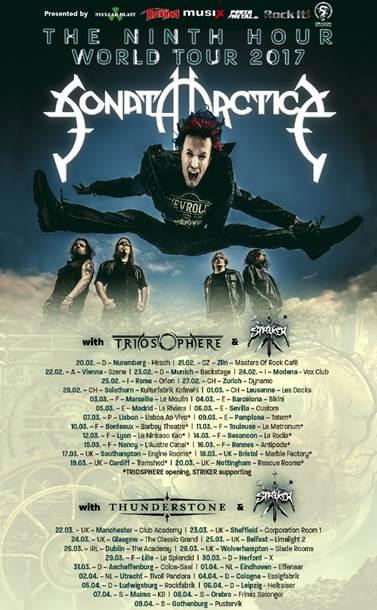 Sonata Arctica UK tour 2017