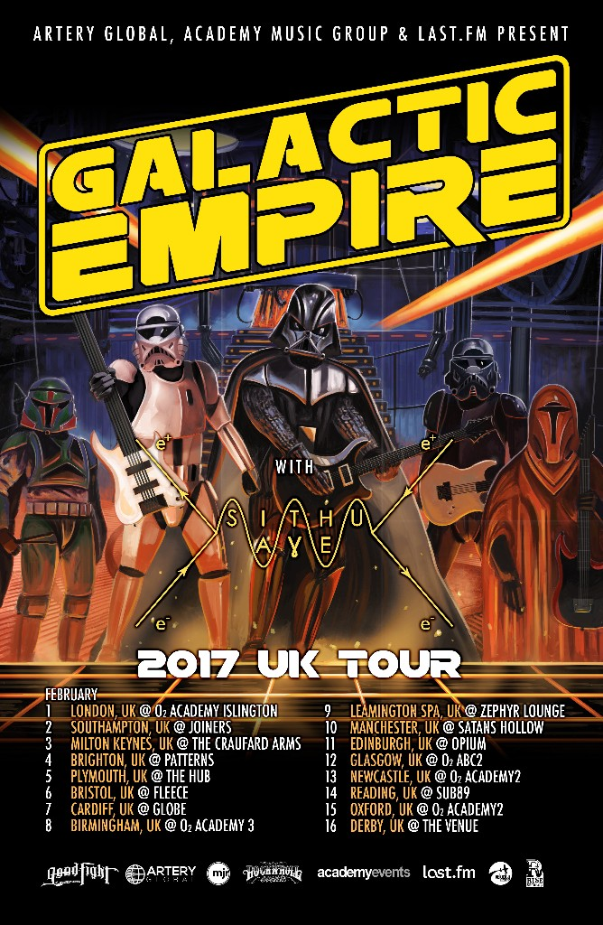Galactic Empire UK Tour 2017