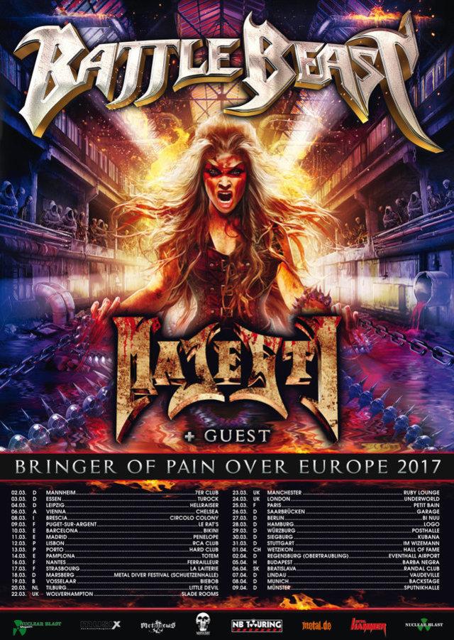 Battle Beast EU Tour 2017