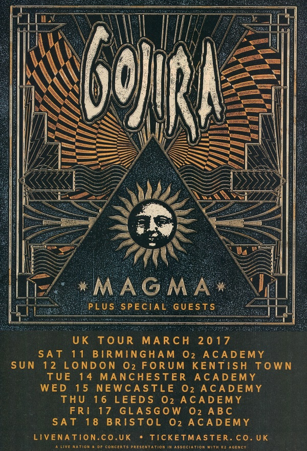 Gojira UK tour 2017
