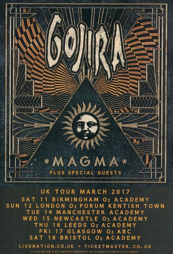 Gojira UK tour 2017