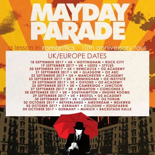 Mayday Parade A Lesson In Romantics UK tour 2017