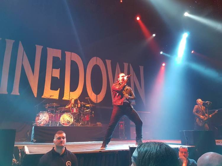 Shinedown live @ Barclaycard Arena, Birmingham. Photo Credit: Elliot Leaver