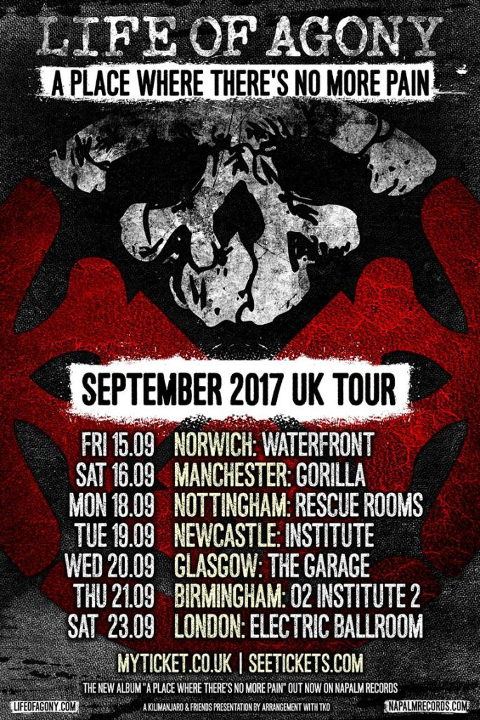 Life of Agony UK Tour 2017