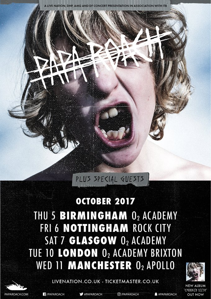 Papa Roach UK Tour 2017