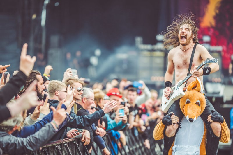 Airbourne live @ Download Festival 2017. Photo Credit: Ross Silcocks