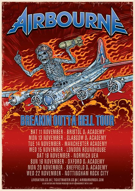 Airbourne UK tour 2017
