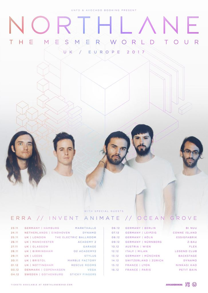 Northlane European & UK tour 2017