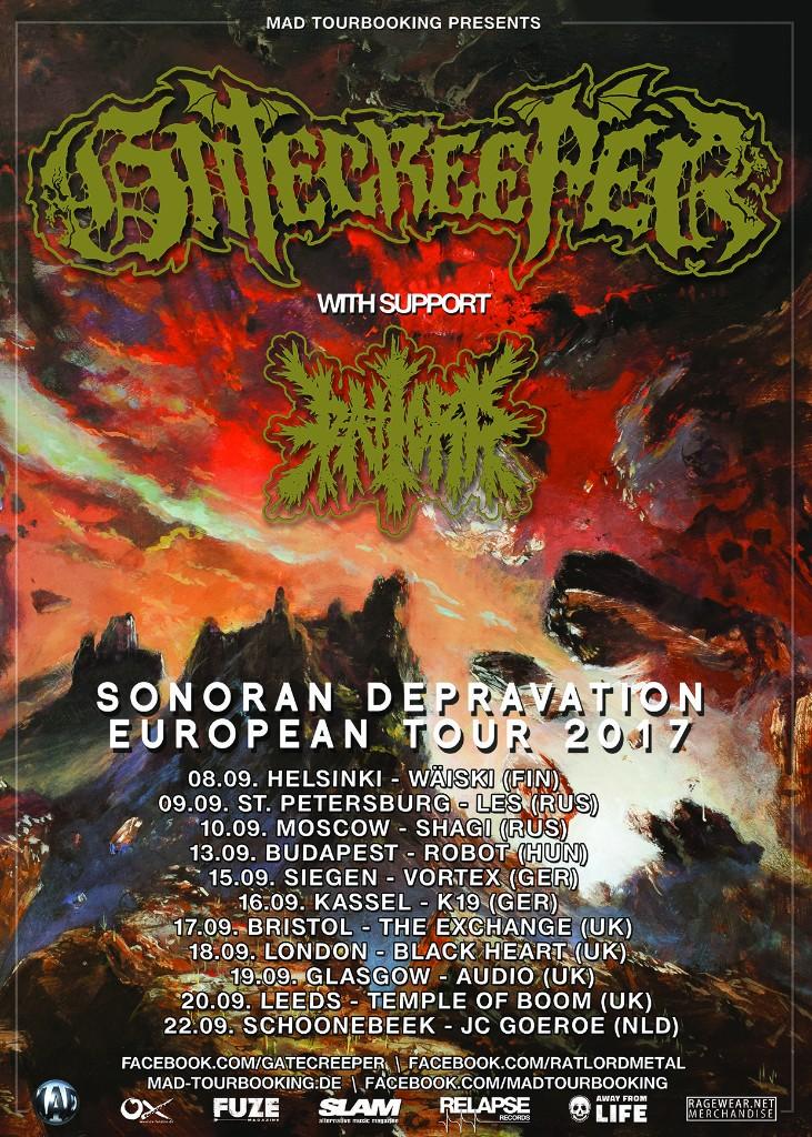 Gatecreeper EU Tour 2017