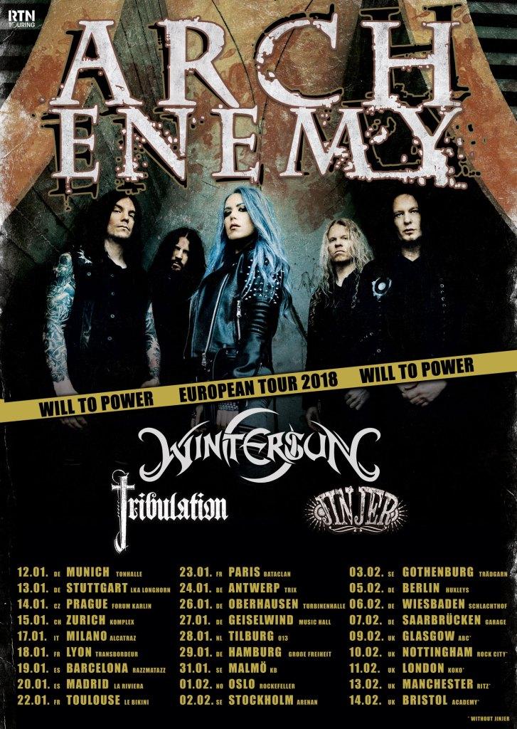 Arch Enemy EU/UK Tour 2018
