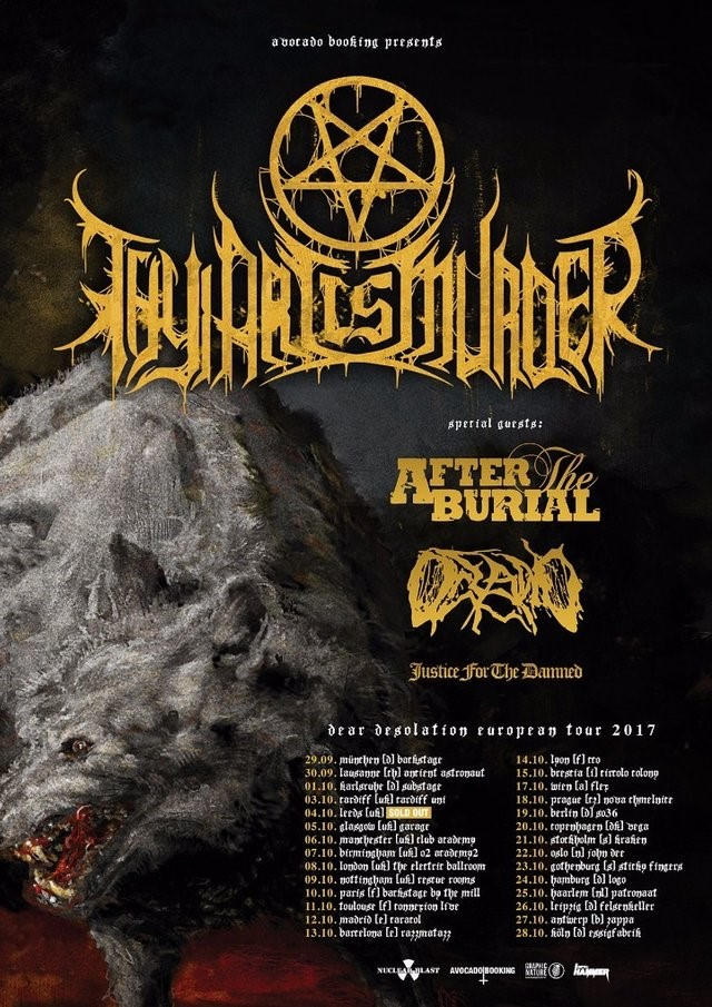 Thy Art Is Murder Tour 2017