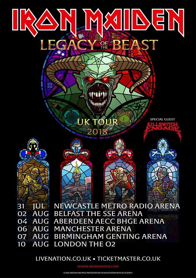 Iron Maiden announce Legacy of the Beast European Tour