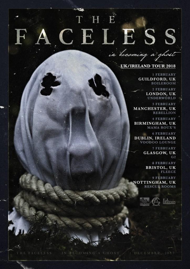 The Faceless UK Tour 2018