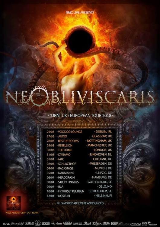 Ne Obliviscaris Eu Tour 2018