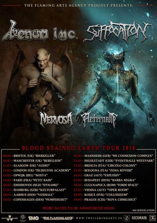 Venom INC/Suffocation European/UK Tour 2018
