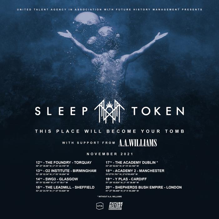 Sleep Token UK Tour 2021