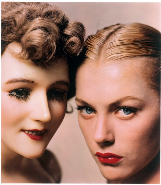 Model and Mannequin, American Vogue Cover, 1945.