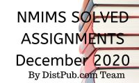 Nmims Solved Assignments Dec 2020