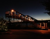 Rhinecliff Station at Night