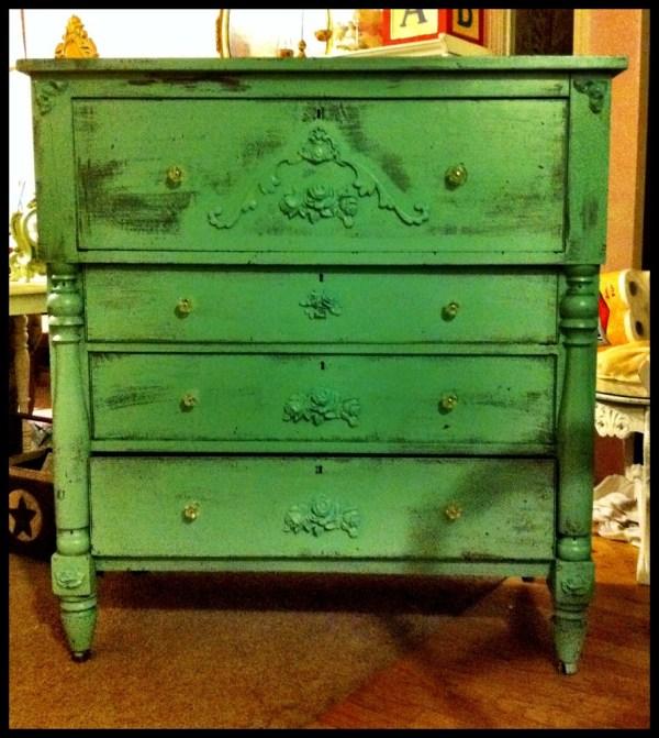 Green Distressed Furniture