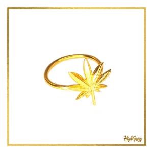 Leaf ring Gold