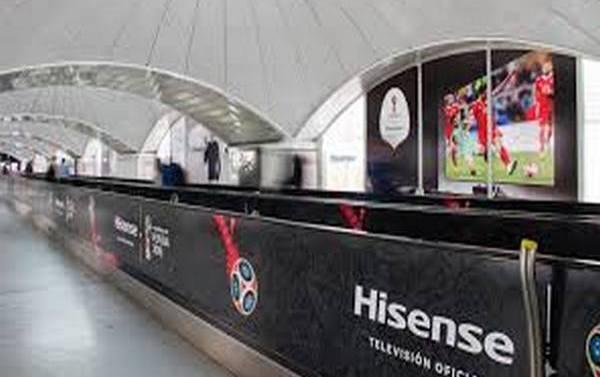 La campaña publicitaria de Hisense en la madrileña estación de Atocha