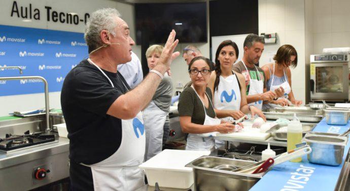 Clientes de Telefónica tuvieron la oportunidad de cocinar junto a Ferrán Adrià