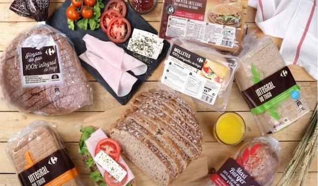 Carrefour presenta su primera gama de pan 100% integral